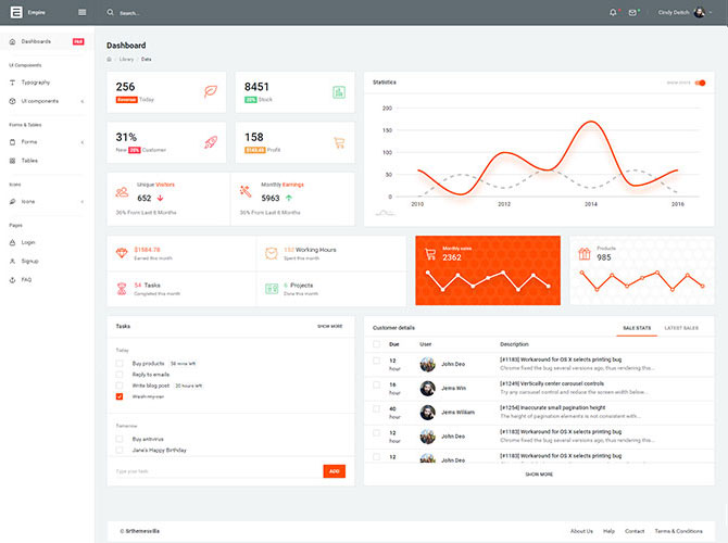 Empire Free Admin Template