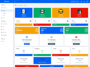 light version materially react admin dashboard